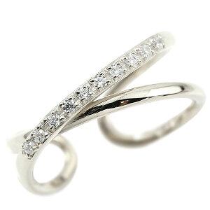 プラチナ 婚約 指輪 指輪 リング 婚約 指輪 ピンキーリング キュービックジルコニア エンゲージリング 2連リング フリーサイズリング フリスタ pt900 送料無料 人気