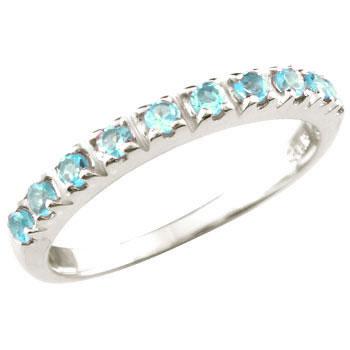 ピンキーリング エタニティ トパーズ ハーフエタニティリング プラチナリング 指輪 選べる天然石 ストレート 宝石
