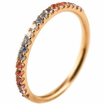 ピンキーリング ダイヤモンド エタニティ ハーフエタニティ リング アメジスト 指輪 ピンクゴールドk18 18金 ダイヤ 2月誕生石 ストレート 宝石