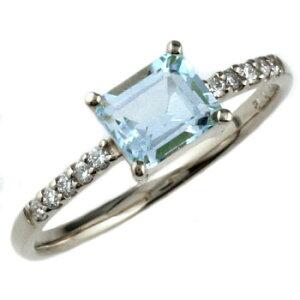 ピンキーリング アクアマリン プラチナリング 指輪 ダイヤモンド ダイヤ シンプル レディース 3月誕生石 ストレート 宝石 妻 嫁 奥さん 女性 彼女 娘 母 祖母 パートナー 送料無料