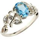 アンティーク ブルートパーズ シルバーリング キュービックジルコニア 指輪 ピンキーリング アンティーク 11月誕生石 …
