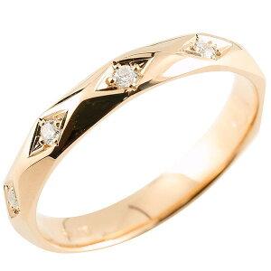 エンゲージリング キュービックジルコニア ピンクゴールドk18 cz リング 婚約 指輪 カットリング 菱形 18金 プレゼント 女性 送料無料 LGBTQ 男女兼用