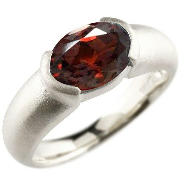 ピンキーリング プラチナ 大粒 一粒 ガーネット リング ピンキーリング pt900 指輪 婚約指輪 エンゲージリング Xmas Christmas