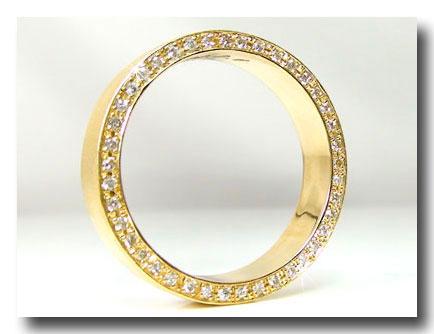 ピンキーリング ダイヤモンド エタニティ リングK18 エタニティリング 指輪 豪華なエタニティ ダイヤ ストレート Xmas Christmas