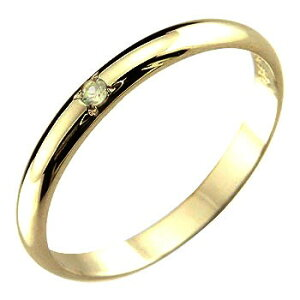 ピンキーリング ペリドット リング 指輪 イエローゴールドk18 8月誕生石 18金 ストレート 2.3 レディース 宝石 最短納期 送料無料 人気