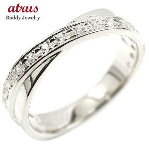 婚約 指輪 リング ホワイトゴールドk10 ダイヤモンド ダイヤ ピンキーリング指輪 エンゲージリング 10金 宝石 レディース 送料無料