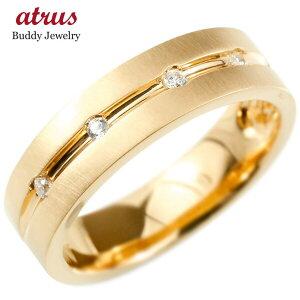 婚約指輪 リング ピンクゴールドk10 キュービックジルコニア エンゲージリング 指輪 幅広 ホーニング加工 つや消し ピンキーリング 10金 宝石 LGBTQ 男女兼用 送料無料