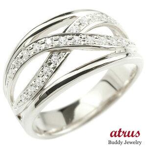 婚約指輪 リング シルバー925 ダイヤモンド エンゲージリング ダイヤ 指輪 幅広 ピンキーリング sv925 宝石 レディース 送料無料