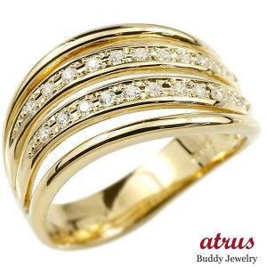 婚約 指輪 リング イエローゴールドk10 ダイヤモンド ダイヤ エンゲージリング指輪 幅広 ピンキーリング 10金 宝石 レディース 送料無料 人気