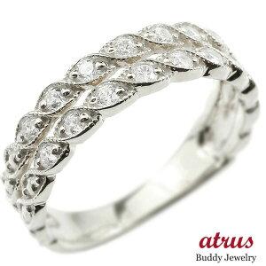 婚約指輪 リング ホワイトゴールドk10 ダイヤモンド エンゲージリング 2連 指輪 ミル打ち ミルグレイン アンティーク ピンキーリング 10金 宝石 送料無料 LGBTQ 男女兼用