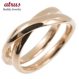 18金 リング ゴールド リング レディース 指輪 18k ピンクゴールドk18 フリースタイル 婚約 指輪 シンプル ピンキーリング 地金 女性 送料無料 人気