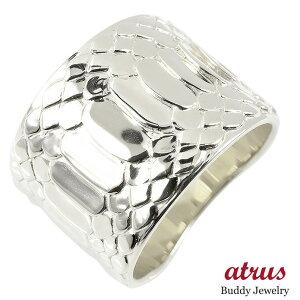 プラチナ リング メンズ 蛇 指輪 pt900 幅広 ピンキーリング 地金 蛇腹 ヘビ シンプル 男性 送料無料
