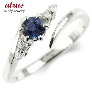 婚約 指輪 シルバー フリーサイズリング レディース サファイア ダイヤモンド ダイヤ 指輪 sv925 エンゲージリング ピンキーリング 女性 送料無料