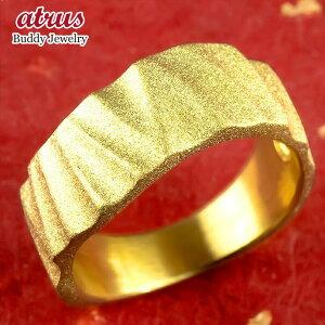 24金 指輪 メンズ 純金 リング 幅広 k24 24k 金 ゴールド ピンキーリング シンプル ダイヤモンドダスト 個性的 人気 男性 送料無料