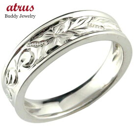 婚約指輪 安い エンゲージリング ハワイアンリング 婚約指輪 ハードプラチナリング 波 花 pt950 ストレート 母の日