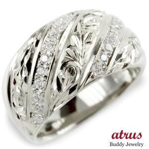 婚約 指輪 シルバー リング ダイヤモンド ダイヤ ハワイアンジュエリー レディース 指輪 sv925 エンゲージリング ピンキーリング リング 幅広 女性 送料無料 LGBTQ 男女兼用