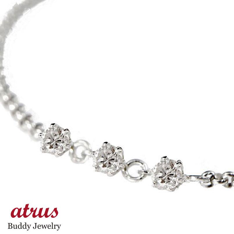 【送料無料】ダイヤモンド ブレスレット プラチナ トリロジー チェーン 腕 チェーン ダイヤ 贈り物 誕生日プレゼント ギフト ファッション