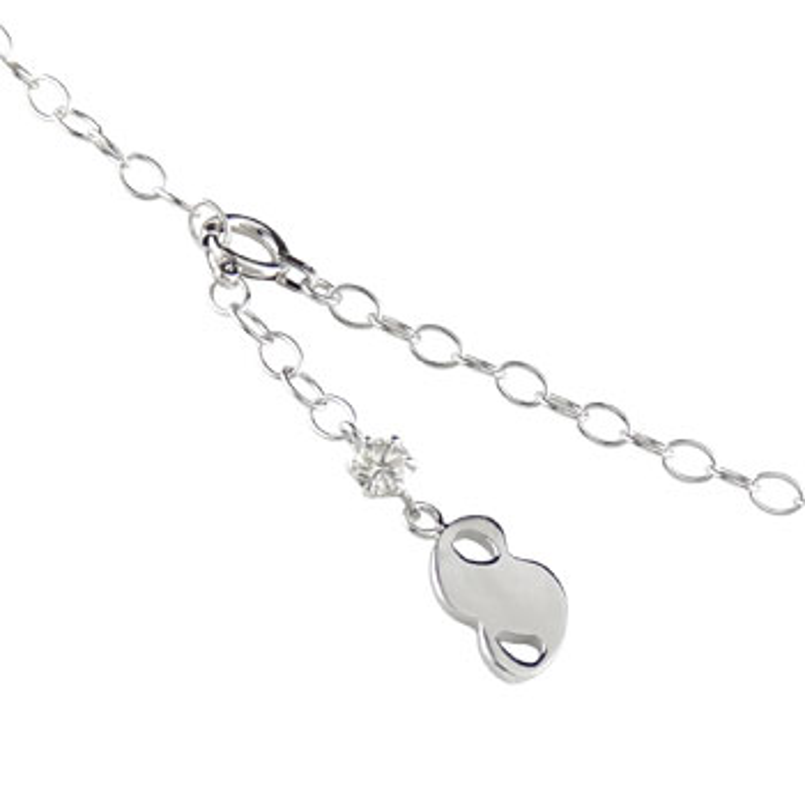 【送料無料】一粒ダイヤモンド アンクレット 数字 ホワイトゴールドk18 18金 チェーン レディース ダイヤ 贈り物 誕生日プレゼント ギフト ファッション お返し