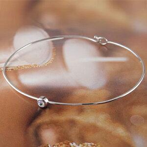 ブレスレット タンザナイト 一粒 ホワイトゴールドk18 バングル 18金 12月誕生石 宝石 送料無料 LGBTQ ユニセックス 男女兼用