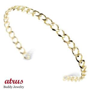 18金 バングル メンズ 喜平 シングル ブレスレット シンプル 地金 ゴールド 18k イエローゴールドk18 男性 キヘイ の 送料無料 人気