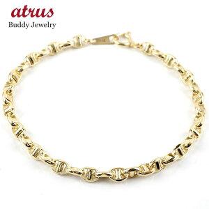 【あす楽】18金 ブレスレット レディース 18cm イエローゴールドK18 中空 地金 ブレス ゴールド 18k k18 女性 シンプル 送料無料 人気