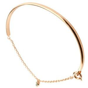 18金 ブレスレット ペリドット 一粒 ピンクゴールドk18 シンプル レディース 8月誕生石 宝石 送料無料