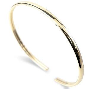 ゴールド メンズ バングル ブレスレット 10k 10金 イエローゴールドk10 シンプル 地金 細身 男性 送料無料