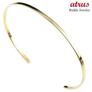 ブレスレット 18金 シンプル 女性 バングル イエローゴールドk18 レディース 華奢 細身 地金 送料無料 人気
