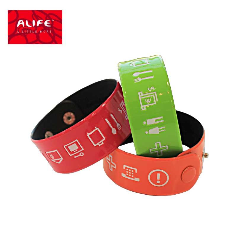 ALFE(アリフ) トラベルグッズ 旅行用品 言語バングル エナメル加工 ビビットカラー