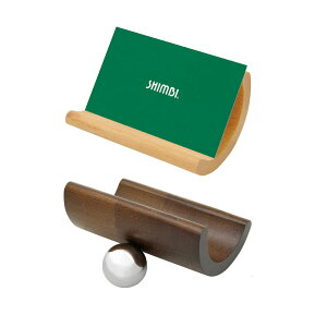 名刺ホルダー 木製+スチール WD-1500 シンビ(SHIMBI)