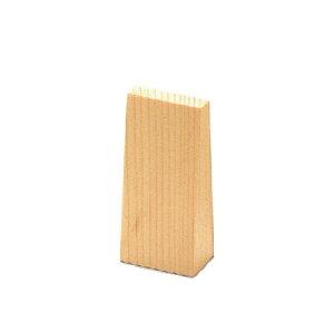 白木台形型プライススタンド 縦小 木製 木理-37 えいむ(Aim)