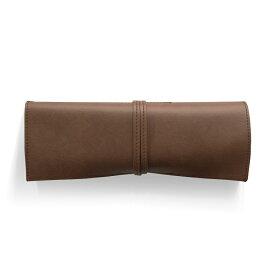 ロールペンケース 合皮 ブラウン P-660 4990630660094【大人の筆箱・道具入れ・コスメケース・サキ】