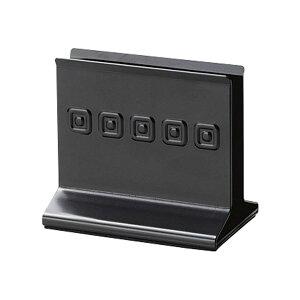 メタルメニューブック立て 118xH105x74xミゾ巾20mm メニューブックスタンド(重量タイプ) BS-61(LM) ブラック メニューブック立て えいむ