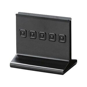 メタルメニューブック立て 118xH105x74xミゾ巾10mm メニューブックスタンド(重量タイプ) BS-62(LS) ブラック メニューブック立て えいむ