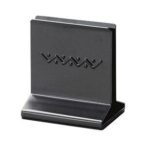 メタルメニューブック立て 90xH100x65xミゾ巾12mm メニューブックスタンド(重量タイプ) BS-63(SM) ブラック メニューブック立て