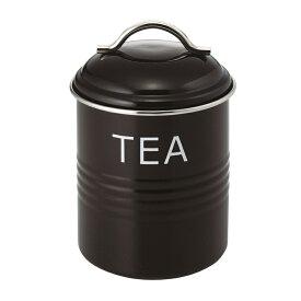 バーネット キャニスター 黒 TEA SALUS(セイラス) 4521540244144 キッチン雑貨 紅茶保存容器 ストッカー 紅茶缶