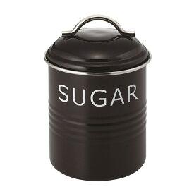 バーネット キャニスター 黒 SUGAR SALUS(セイラス) 4521540244168 キッチン雑貨 砂糖保存容器 ストッカー シュガー缶