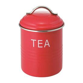 バーネット キャニスター 赤 TEA SALUS(セイラス) 4521540244175 キッチン雑貨 紅茶保存容器 ストッカー 紅茶缶