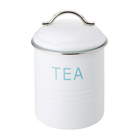 バーネット キャニスター 白 TEA SALUS(セイラス) 4521540244205 キッチン雑貨 紅茶保存容器 ストッカー 紅茶缶