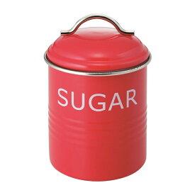 バーネット キャニスター 赤 SUGAR SALUS(セイラス) 4521540244199 キッチン雑貨 砂糖保存容器 ストッカー シュガー缶