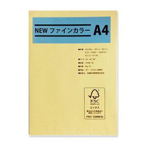 メニュー用紙 クリーム・A4 1冊100枚入り 吉川紙商事 Newファインカラー