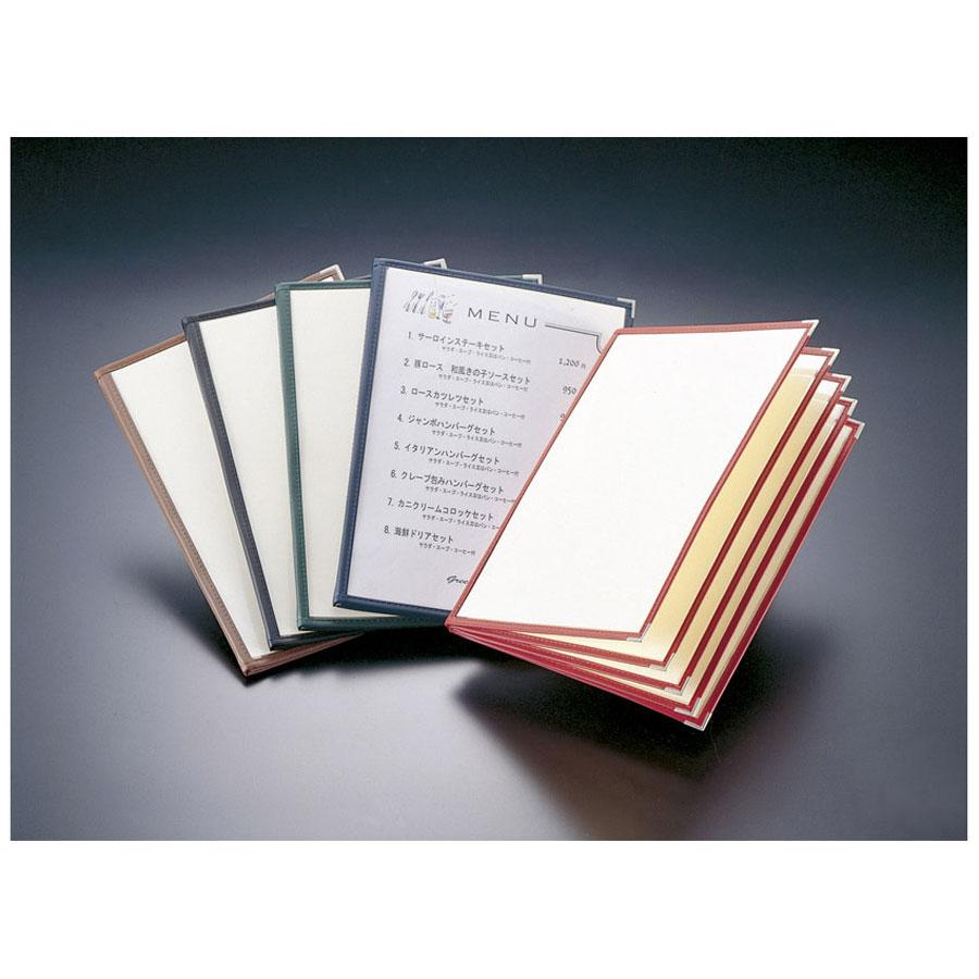 クリアメニューブック 【B4・10ページ】 LTB-410 ※受注生産商品 合皮クリアテーピングメニュー