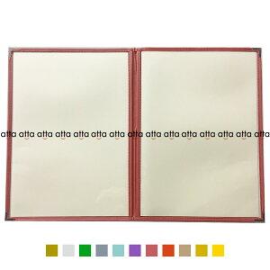 別注テーピングカラー クリアメニューブック 【B5・4ページ】 LTB-54 SPC 合皮クリアテーピングメニュー シルバー・ゴールド・若草・グレー・スカイブルー・パープル・ピンク・オレンジ
