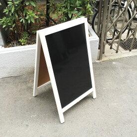 A型看板(中) ABS-75WB マーカー用 白枠・ブラックボード・木製・両面 マグネット使用可☆
