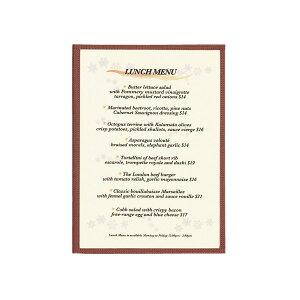 【在庫限り】クリアメニューブック A4・4ページ ヘリンボーン調タイプ HB-ABW-7 シンビ