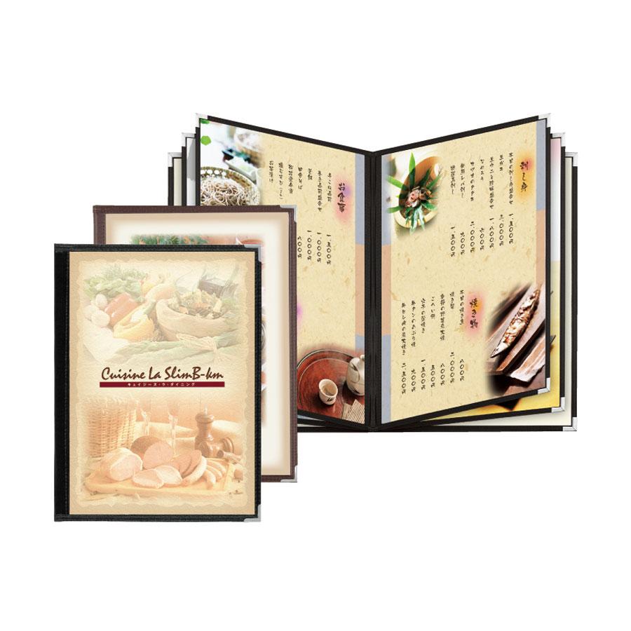 クリアメニューブック B4・12ページ 合皮クリアテーピングタイプ ABW-33 シンビ(SHIMBI)
