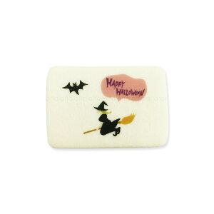 ハロウィンクッキー 魔女 可食プリント ミルククッキー 角型 1セット10個 食べられる印刷 HLKS-0005 ★