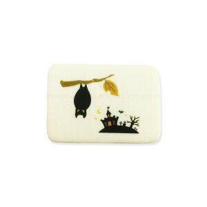ハロウィンクッキー こうもり 可食プリント ミルククッキー 角型 1セット10個 食べられる印刷 HLKS-0006 ★