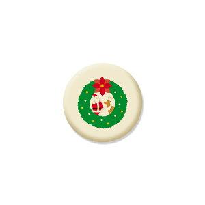クリスマスクッキー リース柄 可食プリント ミルククッキー 丸型 1セット10個 食べられる印刷 CRKS-0001 ★