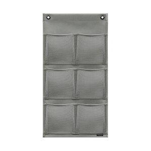 マチ付・ポストカード (6P) グレー W-430 ウォールポケット サキ(SAKI COLLECTION) 4990630430031【大判レターフォルダー・壁掛けポケット・サキ壁掛け収納】